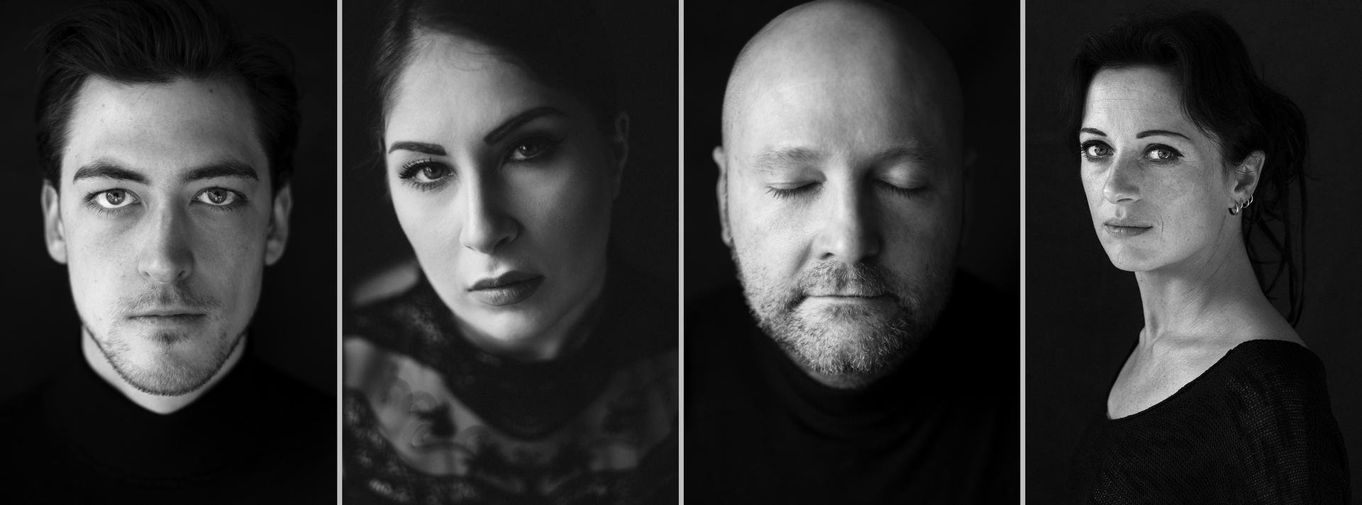 Schwarz-weiß-Aufnahmen von der Fotografin und Künstlerin Astrid Schulz aus Bremen. Sie porträtierte hier Männer und Frauen unterschiedlichen Alters.